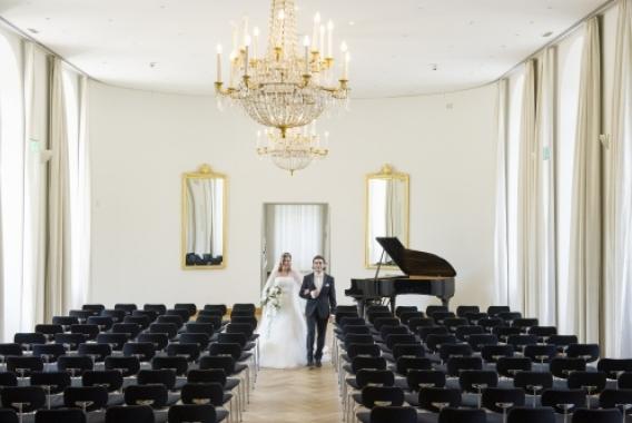 Schloss Karlsruhe, Turmzimmer oder Gartensaal